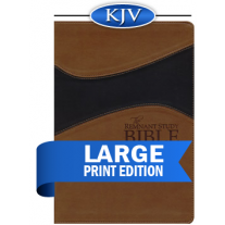 Remnant Study Bible KJV Large Print (Leathersoft Brown/Black)
