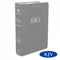 Platinum Remnant Study Bible KJV (Genuine Top-grain Leather Gray) King James Version