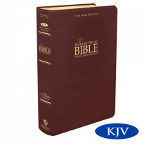 Platinum Remnant Study Bible KJV (Genuine Top-grain Leather Maroon) King James Version