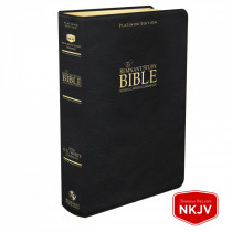 Platinum Remnant Study Bible NKJV (Genuine Top-grain Leather Black) New King James Version