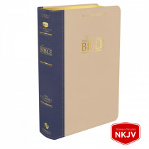Platinum Remnant Study Bible NKJV (Genuine Top-grain Leather Blue/Taupe) New King James Version