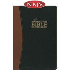 The Remnant Study Bible NKJV (genuine top-grain leather black & brown)