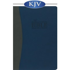The Remnant Study Bible KJV (Leather-soft blue/gray)