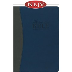 The Remnant Study Bible NKJV (Leather-soft blue/gray)