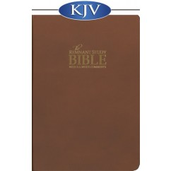The Remnant Study Bible KJV (Brown top-grain leather)