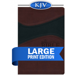 Remnant Study Bible KJV Large Print (Leathersoft Burgundy/Black)