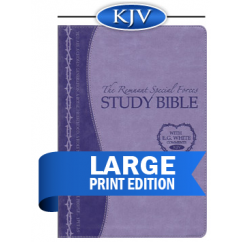 Remnant Study Bible KJV Large Print (Leathersoft Lavender)