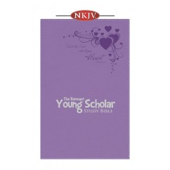 Young Scholar Study Bible NKJV (Leather-soft Lavender)