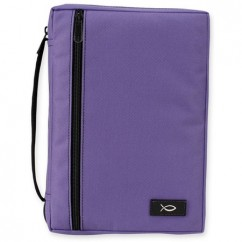 "Lavender Canvas Bible Case (fits 6.25"" x 9.25"" Bible)"