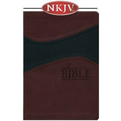 Remnant Study Bible NKJV (Leather-soft Burgundy/Black)