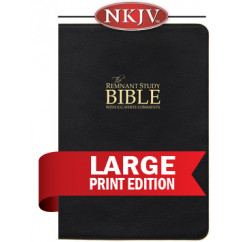 Remnant Study Bible NKJV Large Print (Genuine Top-grain Leather Black)