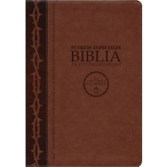 La Biblia De Estudio Remnant LeatherSoft Fuerzas Especiales Marrón RVR60—Spanish Remnant Study Bible Special Forces Brown