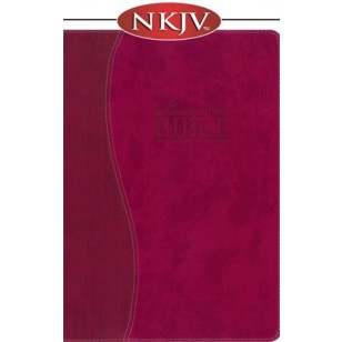 The Remnant Study Bible NKJV (Leather-soft raspberry)