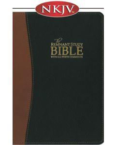 The Remnant Study Bible NKJV (genuine top-grain leather black & brown)