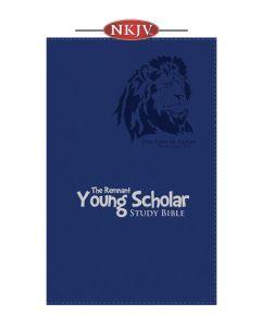 Young Scholar Study Bible NKJV (Leather-soft Blue)