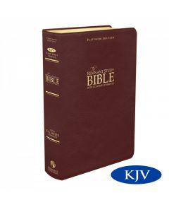 Platinum Remnant Study Bible KJV (Genuine Top-grain Leather Maroon) King James Version