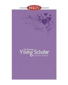Young Scholar Study Bible NKJV (Leather-soft Lavender)