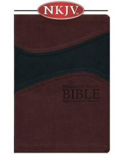 Remnant Study Bible NKJV (Leather-soft Burgundy/Black)