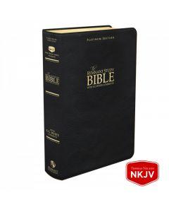 Platinum Remnant Study Bible NKJV (Genuine Top-grain Leather Black) New King James Version
