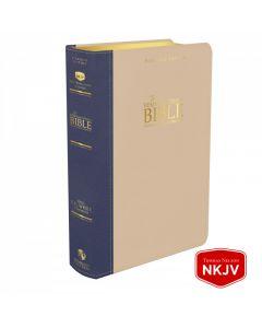 Platinum Remnant Study Bible NKJV (Genuine Top-grain Leather Blue/Taupe) New King James Version