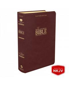 Platinum Remnant Study Bible NKJV (Genuine Top-grain Leather Maroon) King James Version