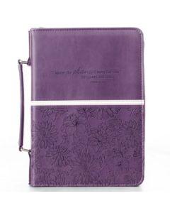 "Purple LuxLeather Bible Case (fits 6.7"" x 9.6"" Bible)"