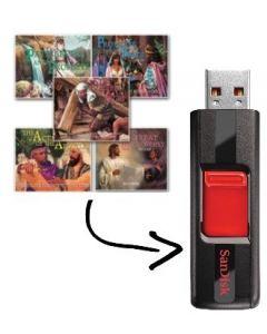 16GB USB Flash Drive with Audio Books